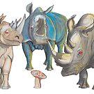 Mug Travel – Shroomy Big Blue Boss Hog by AJLeibengeist