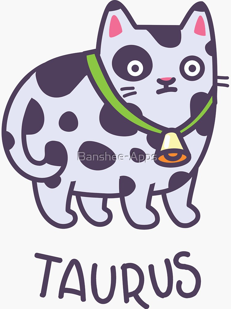 Funny Taurus Cat Horoscope Tshirt - Astrology and Zodiac Gift Ideas! by Banshee-Apps