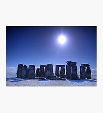Blue Stone Henge Photographic Print