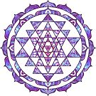 Purple Sri Yantra Lotus Mandala Hinduism by Lilyas