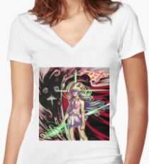 Gurren Lagann - The Anti-Spiral Women's Fitted V-Neck T-Shirt