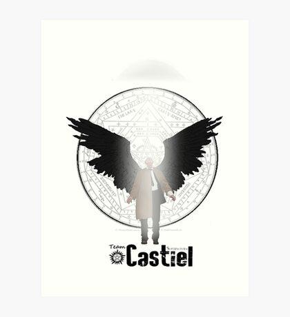 Team Supernatural: Castiel Art Print