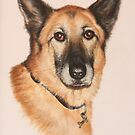 KATH'S DOG KELLY. by Brian Towers