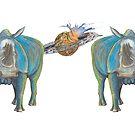 Mug Big Blue Back to Back by AJLeibengeist