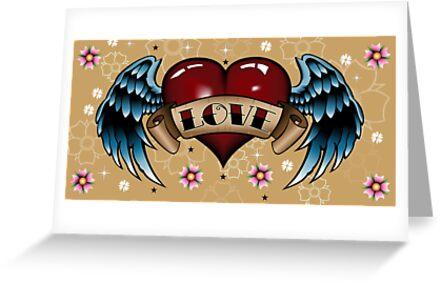 Tattoo Heart with Wings by tattoofreak