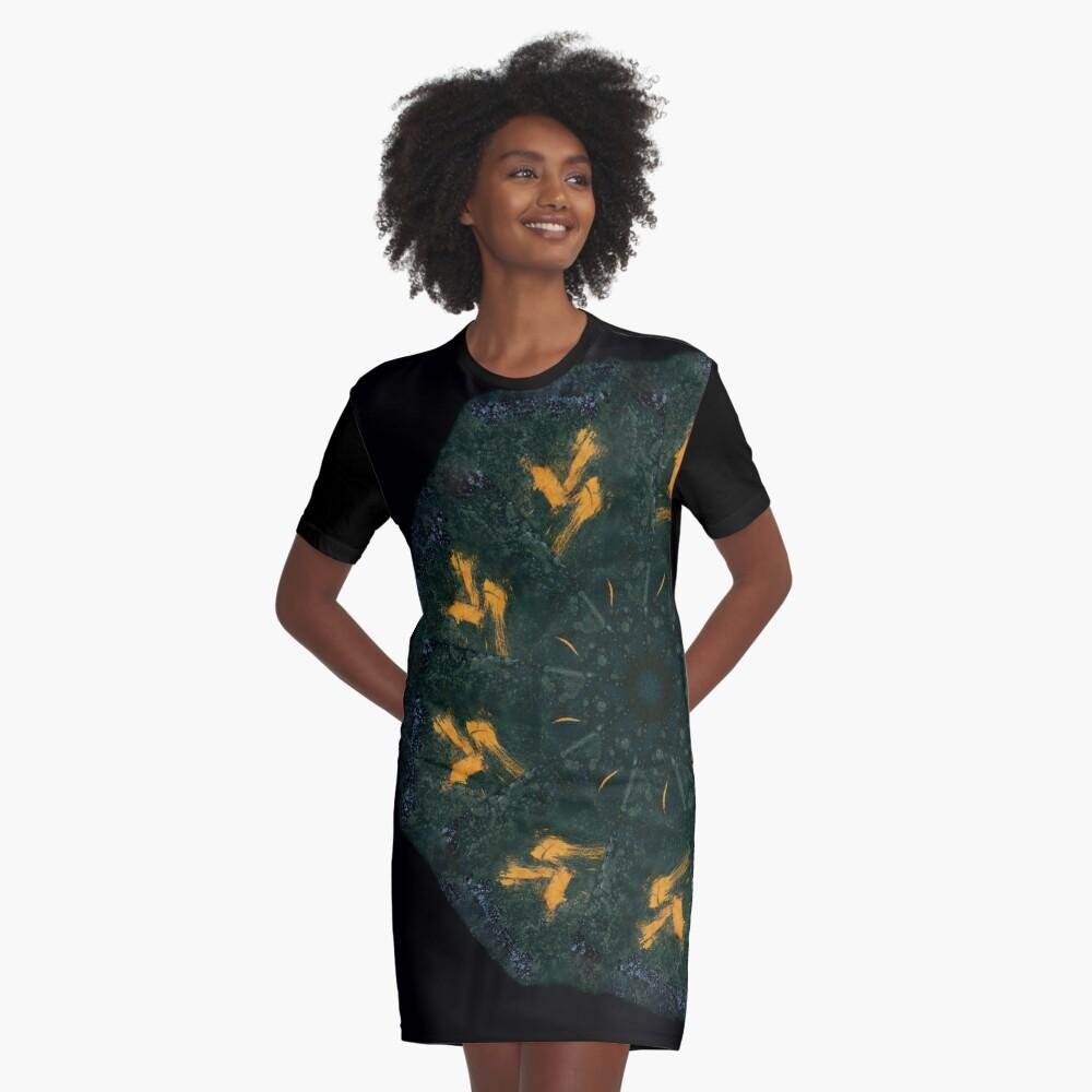 Coffee Mandala - 0002 - Orion T-Shirt Kleid