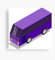 Purple Bus Canvas Print