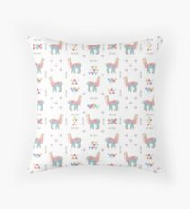 Colorful Alpaca Throw Pillow