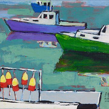 Celadon Voyage by AMOpainting
