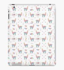 Buntes Alpaka iPad-Hülle & Klebefolie