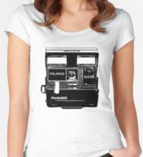 Old Polaroid Camera Women's Fitted Scoop T-Shirt