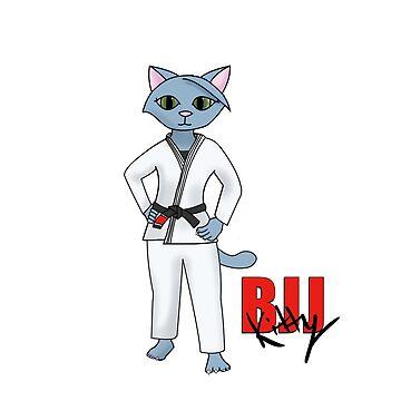 BJJ Kitty black belt by Mount-Cynthus
