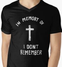 a7ffce96 In Memory of I don't Remember Men's V-Neck T-Shirt