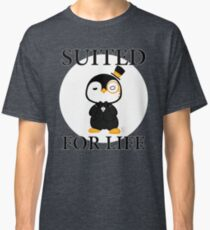GentlePenguin - Suited For Life Classic T-Shirt