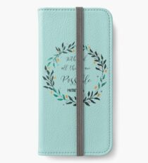 With God iPhone Wallet/Case/Skin