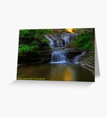 Buttermilk falls 10 HDR Greeting Card