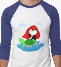 The Little MerPenguin Men's Baseball ¾ T-Shirt
