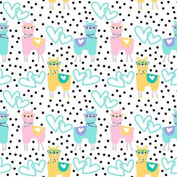 Adorably Stylish Llamas by Soulfire86