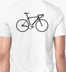 Bicycle, Racing Bike, Road Bike, Racing bicycle, Black on White T-Shirt