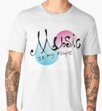Music is my Escape Men's Premium T-Shirt