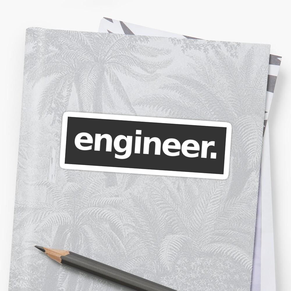 Engineer - Gray Sticker