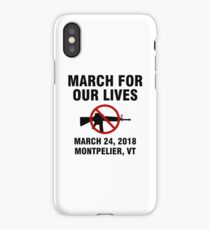 March For Our Lives End Gun Violence Montpelier iPhone Case/Skin