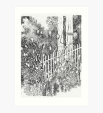 By the Fence Art Print