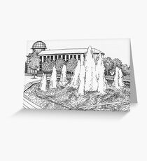 Fountains, Letchworth Garden City Greeting Card