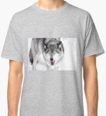 "Wolf ""I just ate a human, yuk"" Classic T-Shirt"