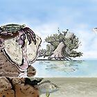 Purple Crab (Metopograpsus frontalis) by Djjacksonart