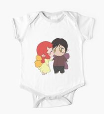 Feisty Fairies - Blushing Chibi Fairy Kisses! One Piece - Short Sleeve