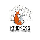 Cute Fox and Bunny - Kindness Pulls the Forests of Nature Together by jitterfly
