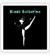 Black Ballerina Sticker
