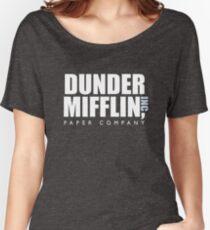 Dunder Mifflin The Office Logo Women's Relaxed Fit T-Shirt