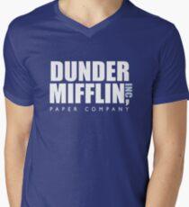 Dunder Mifflin The Office Logo Men's V-Neck T-Shirt