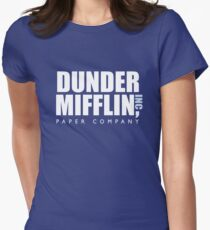 Dunder Mifflin The Office Logo Women's Fitted T-Shirt