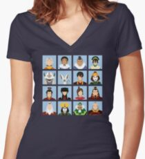 Major Players Women's Fitted V-Neck T-Shirt