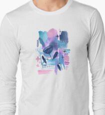 Abstract - Pink Sky At Night Long Sleeve T-Shirt