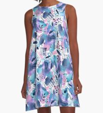 Abstract - Pink Sky At Night A-Line Dress
