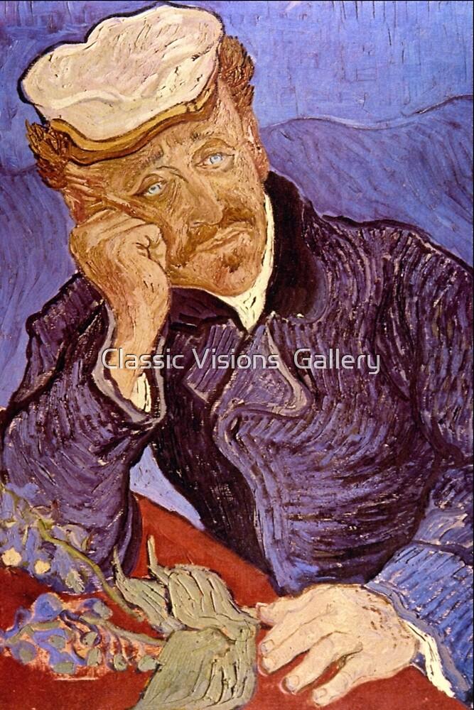 'Portrait of Dr. Gatchet' by Vincent Van Gogh (Reproduction) by Roz Abellera