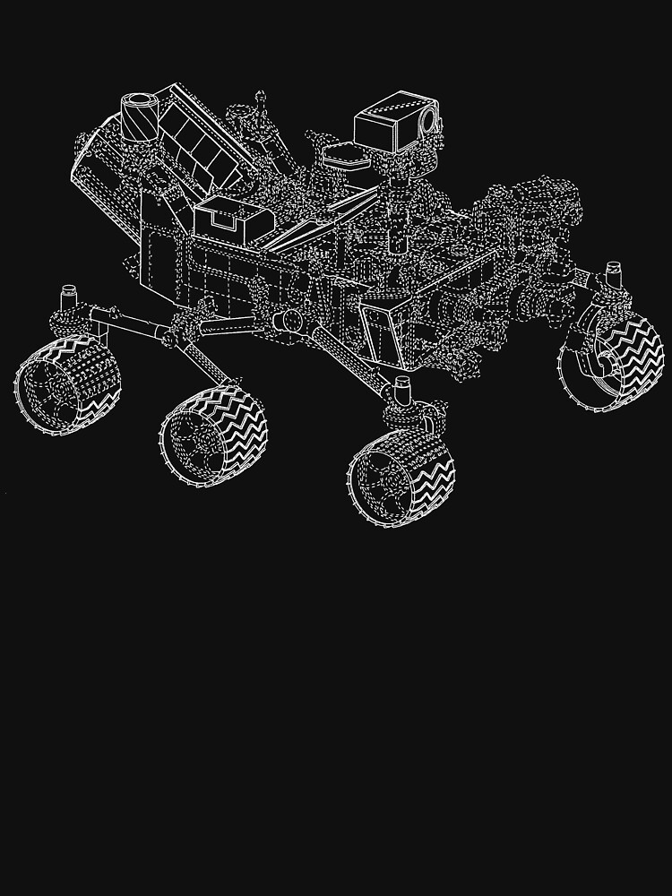 Usa mars rover blueprint design space shuttle apparel unisex t usa mars rover blueprint design space shuttle apparel by nakedshirts malvernweather Choice Image