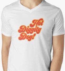 Heißer Diggity Hund! T-Shirt mit V-Ausschnitt für Männer