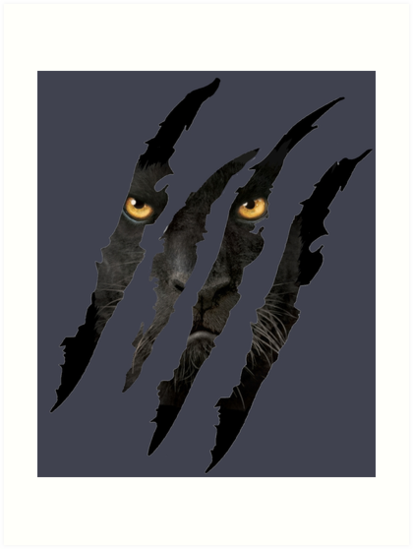 """""""Black Panther Claw with Yellow Eyes"""" Art Print by ..."""