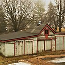 Old White Shed by Graphxpro