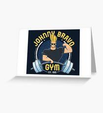 Johnny Bravo Fitnessstudio Grußkarte