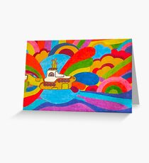 Beatles greeting cards redbubble beneath the waves greeting card m4hsunfo Choice Image