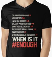 When is it enough?  Men's V-Neck T-Shirt
