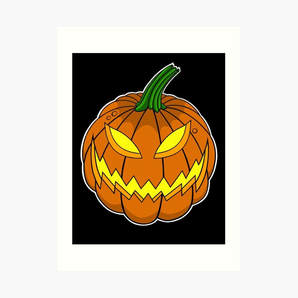 Spooky Pumpkin Art Print