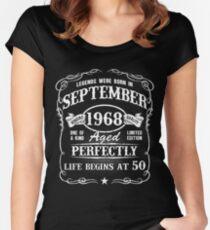 Camiseta entallada de cuello redondo Nacido en septiembre de 1968, las leyendas nacieron en septiembre de 1968