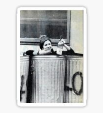 Carrie Fisher in a Trash Can, Literally Sticker